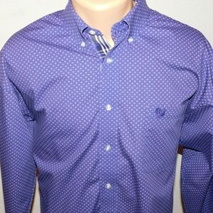 Panhandle Slim long sleeve button down shirt. M